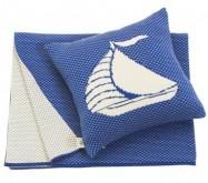 Modrá deka a vankúš