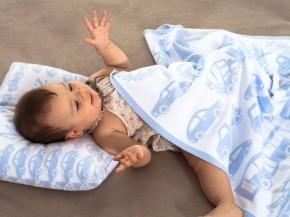 Modrá deka s vankusom-originálny darcek
